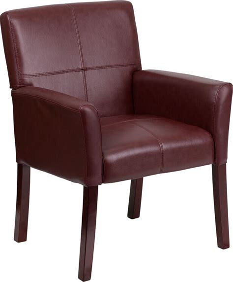 leather guest chair lot of 10 burgundy leather reception guest chairs with