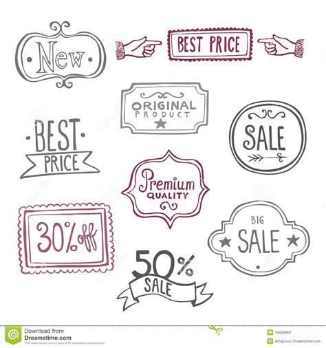 free doodle labels sales labels doodles stock vector illustration of label