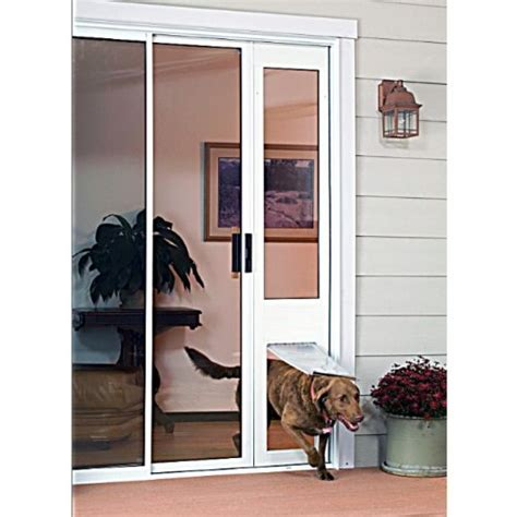 Patio Pacific Pet Door Buy Patio Pacific Thermo Panel 3e Small With Endura Flap 74 75 77 75 White Frame Pet Door