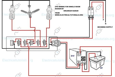 inverter wiring diagram for house ups wiring inverter wiring diagram for single room electrical tutorials urdu hindi