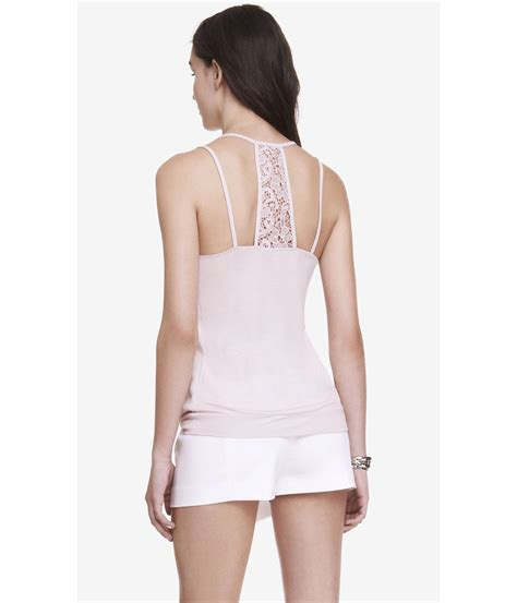 Lara Bohincs Plaited Mesh Bangle by Lyst Express Pleated Neck Crochet Back Blouson Cami In Pink