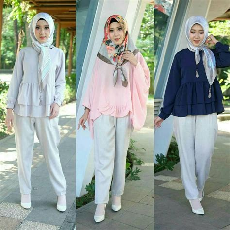 55  Trend Busana Hijab 2019 Simple, Casual Dan Modern