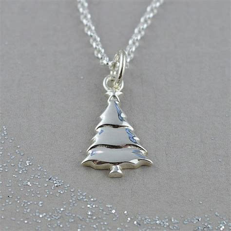 christmas tree necklace with personalised message card by