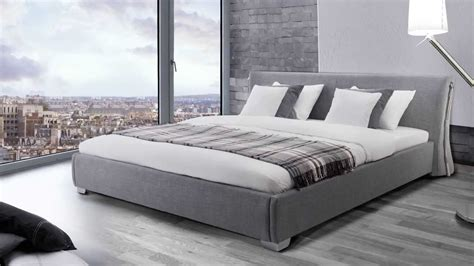 Home Decoration Interior Gray Upholstered Bed Frame Med Art Home Design Posters