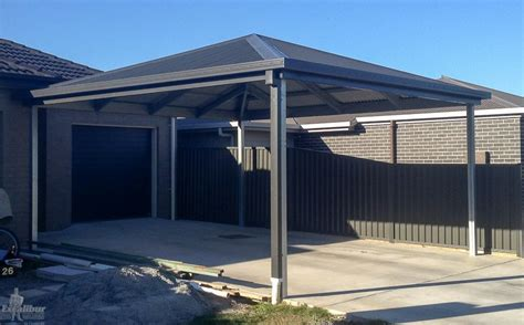 Hip Roof Carport Kit hip roof carport diy kits for sale genuine colorbond