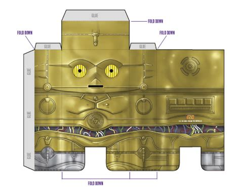 Wars Papercraft Templates - papercraft wars c3po paper toys template and