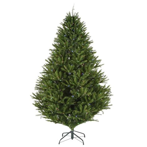 led smart tech lighting tree tis your season 7 5 ft pre lit led california cedar