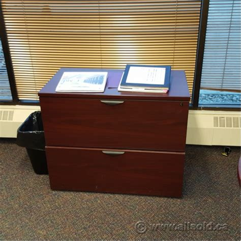Mahogany 36 Quot 2 Drawer Lateral File Cabinet Locking Mahogany Lateral File Cabinet 2 Drawer