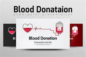 blood donation presentation templates creative market