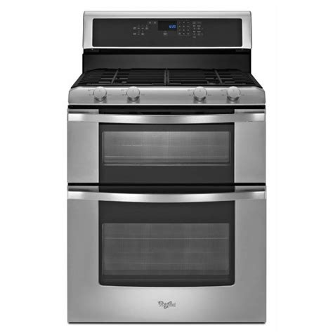 Oven Gas 2 Jutaan shop whirlpool 30 in 3 9 cu ft 2 1 cu ft self cleaning oven gas range stainless steel