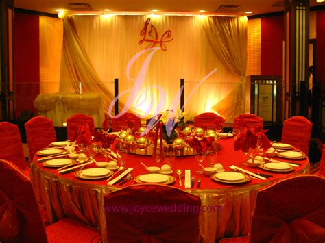 Red and gold wedding decoration joyce wedding services