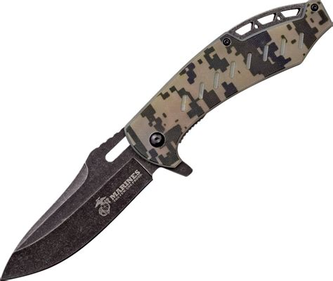 us pocket knife usma1043c us army marines linerlock pocket knife a o camo