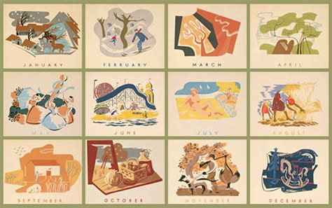 Artists Calendars Posters Wpa Posters Federal Project Calendar