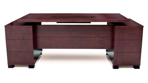 Mahogany Office Desks Ford Executive Modern Desk With Filing Cabinets Mahogany Finish Zuri Furniture