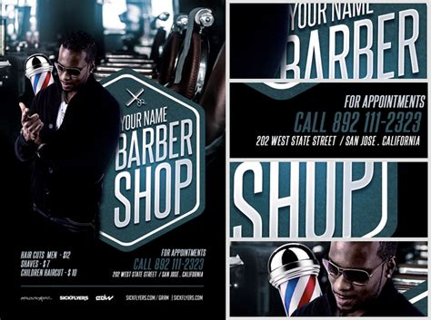 barber s shop flyer template flyerheroes
