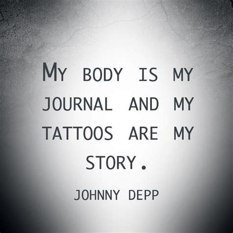 johnny depp tattoo saying tattoos job interviews rejection letter or job offer