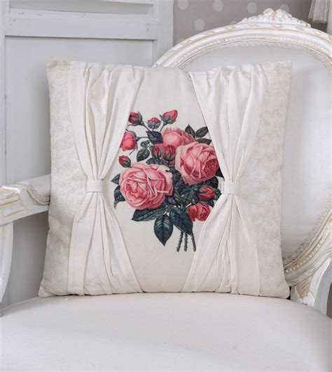 decorative cushions garden of roses cushion shabby chic