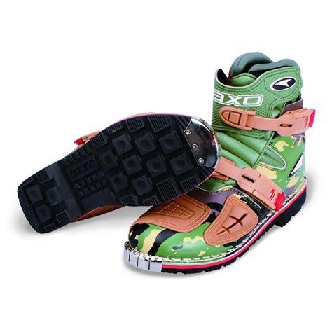 green motocross boots axo slammer short motocross enduro boots axo