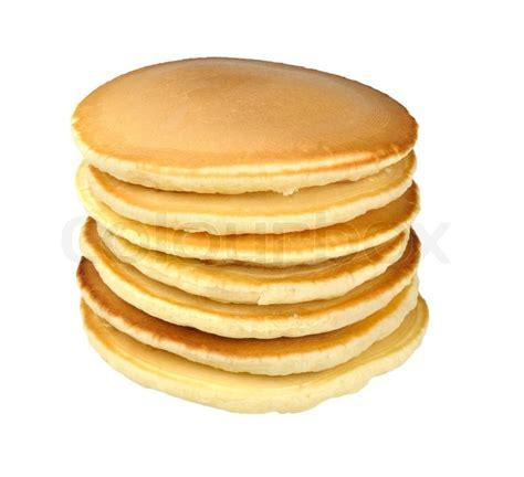 Pancake Colour Box Stack Of Pancakes Isolated On White Background Stock