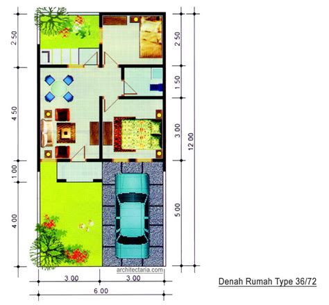 desain rumah minimalis type 36 72 desain rumah mungil type 70 pt architectaria media cipta