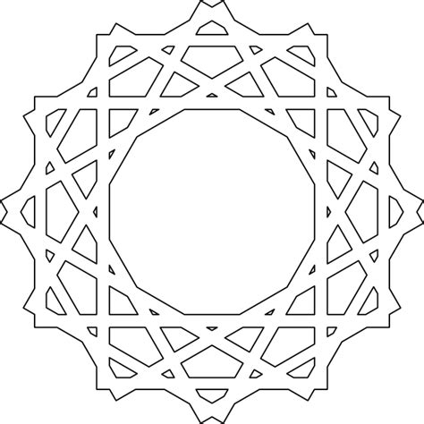 islamic pattern template islamic art clip art at clker com vector clip art online