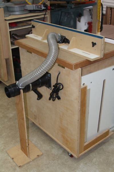 router table dust collection woodworking talk