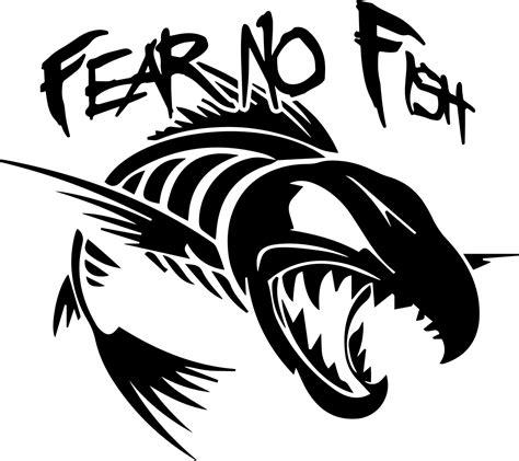 Fear No Fish Sticker fear no fish vinyl sticker fish cricut and stenciling
