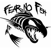 Fear No Fish Vinyl Sticker  Cricut And Stenciling