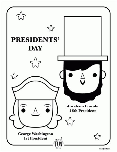presidents day coloring pages preschool president day coloring pages to print coloring home