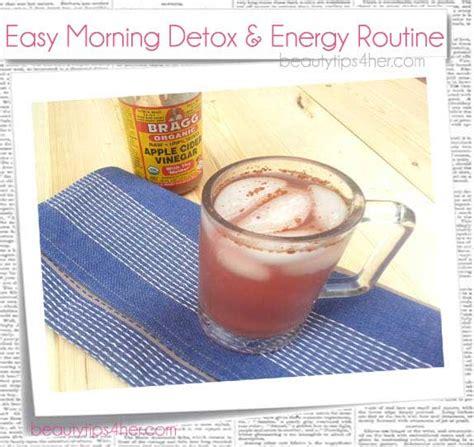 Apple Cider Vinegar Morning Detox by Easy Morning Detox Energy Routine Apple Cider Vinegar
