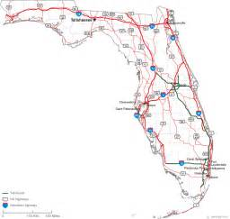 florida counties map with roads map of florida