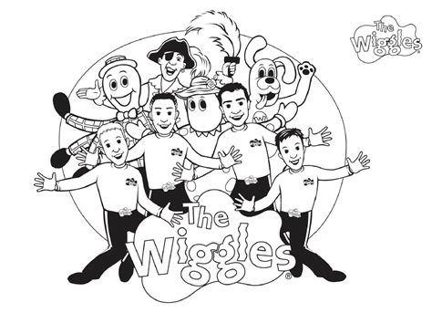 Free Printable Wiggles Coloring Pages For