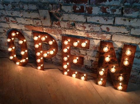 marquee lights black font marquee letter by west vintage trading company eclectic lighting by etsy