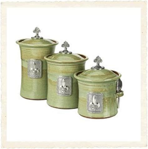 cheap kitchen canister sets fleur de lis kitchen canisters tin woodsman crosby canister set pistachio fleur by