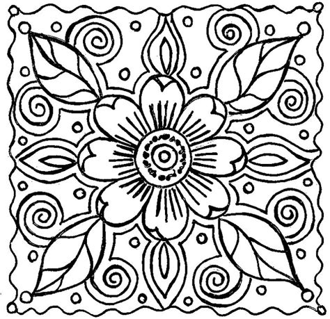 Abstract Flower Coloring Pagespin By Sangiorgio On