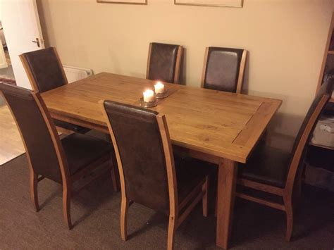 dining table purchase amazing solid oak dining table and 6 leather chairs