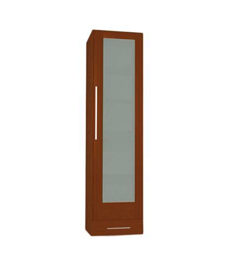 timbor 1 door glass front cherry wardrobe buy at