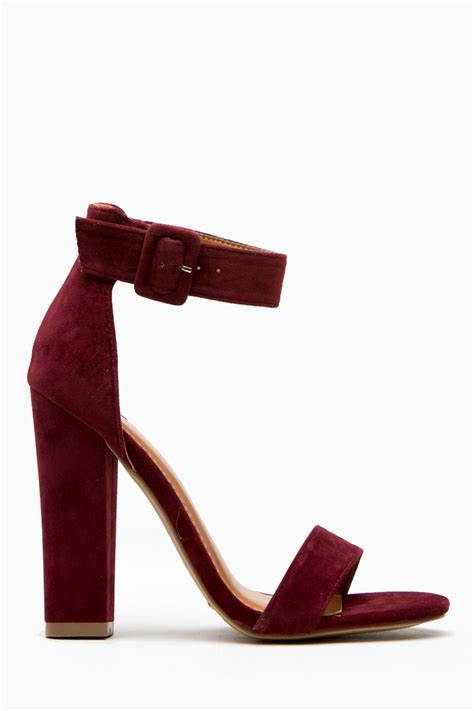 burgundy wedding heels burgundy faux suede chunky ankle heels cicihot
