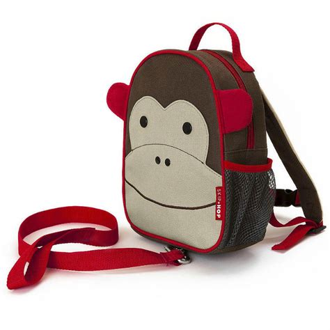 Skiphop Zoo Let Mini Backpack With Rein Bee skip hop zoo monkey mini backpack with safety harness