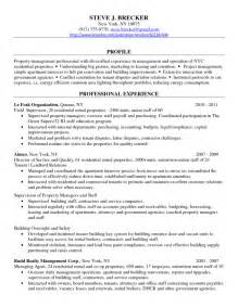 Apartment Property Manager Sle Resume by 37 Real Estate Resume Sles To Help You Vntask
