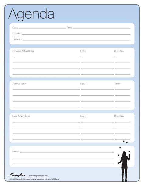 Meeting Agenda Printables Pinterest Free Printable And Templates Agenda Template Free