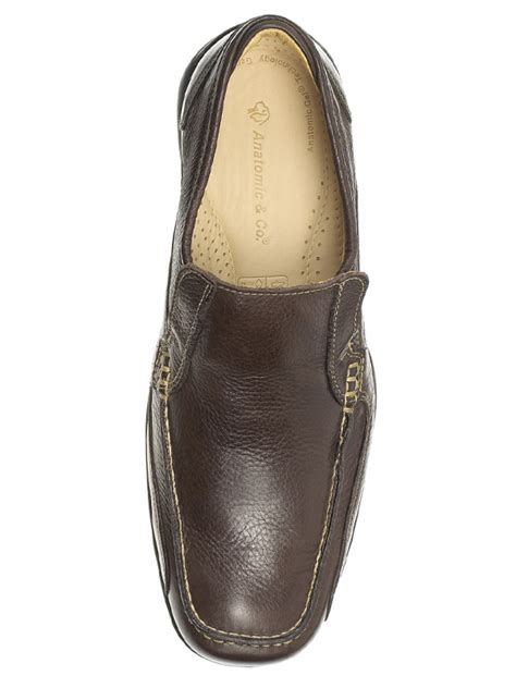mens parati brown slip on shoes by anatomic co