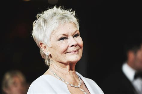 judy dench grey hairstyles judi dench reveals she can no longer travel alone due to