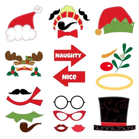 printable christmas themed photo booth props 7 best images of christmas photo prop printables