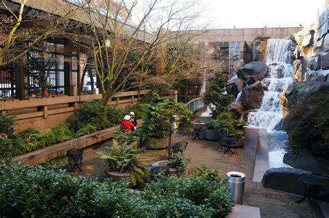 garden seattle waterfall garden park landscape voice