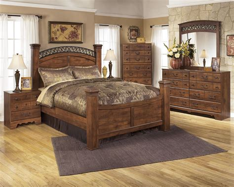 signature design  ashley timberline   bedroom group   chest queen bedroom group pc