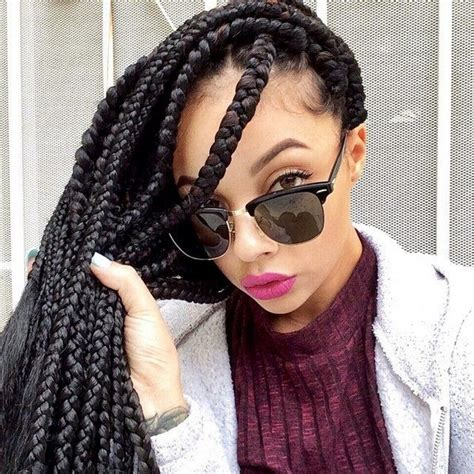 how many bags for big box braids 55 of the most beautiful jumbo box braids to inspire your