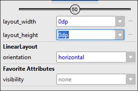 use a layout height of 0dp the linear layout