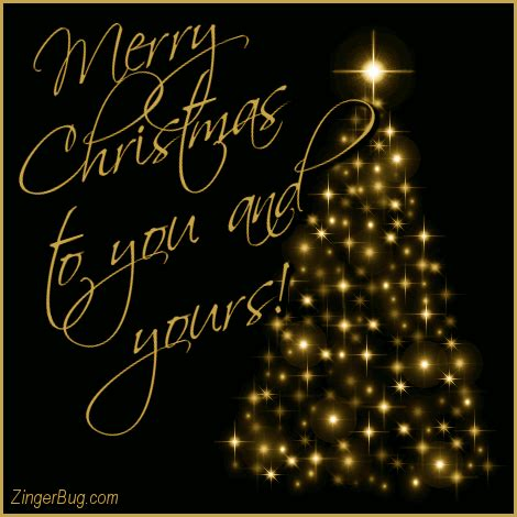 merry christmas     gold tree glitter graphic greeting comment meme  gif