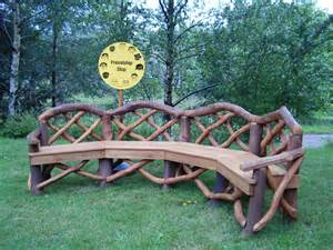 Faux Bois Garden Bench Coppice Creations Rustic Garden Furniture And Fencing